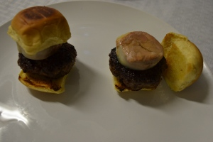 Duck meat burgers